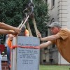 Granite marker installed to highlight historic bell