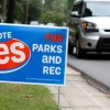 Campaign signs support sales tax hike for sports complex