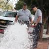 Rockingham FD flushing hydrants