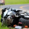 1 hurt in motorcycle crash