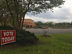 Kevin Spradlin | PeeDeePost.com Early voting centers at Cole Auditorium in Hamlet and Town Hall in Ellerbe opened Tuesday to accommodate early voters, along with the Board of Elections office on South Hancock Street in downtown Rockingham.