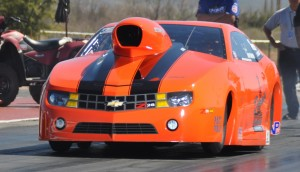 Photo courtesy Rockingham Dragway Cary Goforth and his Dean's Casing Service Camaro is the favorite in this week's IHRA Spring Nationals at Rockingham Dragway.