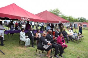 Kevin Spradlin | PeeDeePost.com Nearly four dozen people attended the groundbreaking ceremony for the new Dobbins Heights Community Center.