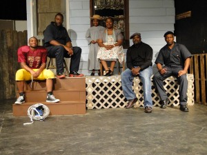 "Submitted photo The cast of ""Fences,"" from left to right: Tyrese Clark, Bruce Stanback, Ashlyn Davis, Anitra Ingram, Daniel Wall and Raynard House."