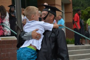 Photo courtesy Richmond Community College Graduate Andy Graves post-commencement exercise.