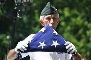 Kevin Spradlin | PeeDeePost.com AMVETS led the folding of the American flag.