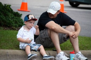 Kevin Spradlin | PeeDeePost.com A boy and his dad, along with a Mickey Mouse hat and some ice cream. All is right with the world.