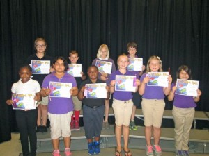 Submitted photo Mineral Springs students making the A Honor Roll for the fifth six weeks grading period were, front row from left for Third Grade, Isis McDonald, Yuliana Gonzalez, Diezel Green, Haylee Johnson, Layla Hayden, and Cadence Thompson. Second row from left for Fourth Grade, Jamie Kay Sears and Dexter Mabe. Second row, for Fifth Grade, Jaedyn Ross and River Meacham. Not pictured: Caylie Holden