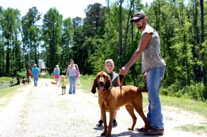 Kevin Spradlin | PeeDeePost.com Baby, a 1-year-old bloodhound, is anything but your typical infant.