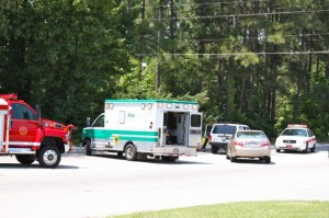 Kevin Spradlin | PeeDeePost.com The scene on South Long Drive at Richmond Memorial Drive shortly after 2 p.m. Wednesday in Rockingham.