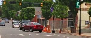 Kevin Spradlin | PeeDeePost.com A car is shown going the wrong way on East Washington Street.