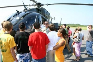 Photo courtesy Rockingham Police Department Junior Police Academy cadets enjoyed a visit to Richmond County Airport.