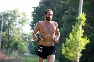 Kevin Spradlin | PeeDeePost.com Dan Lenz led the first 30 miles of the race, but dropped out due to a sore back.