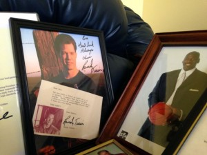 Kevin Spradlin | PeeDeePost.com Beatrice Parker's small room is filled with autographed pictures of celebrities that have helped her help others fulfill their wishes.