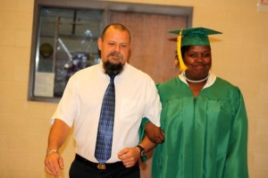 Kevin Spradlin | PeeDeePost.com Troy Thompson and graduate Betty Ann Dawkins.