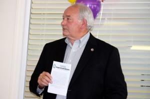 "Kevin Spradlin | PeeDeePost.com Richmond County Commissioner John Garner said an organization like The Omega Professional Staffing Service can help provide ""an elevated workforce."""