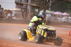 Kevin Spradlin | PeeDeePost.com A racer hits the turn of the Ellerbe Lions Club Speedway during a Memorial Day weekend event in Ellerbe.