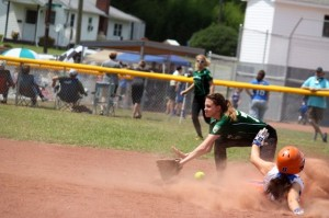 Kevin Spradlin | PeeDeePost.com The Belles stole second base almost at will Sunday against West Stanly.