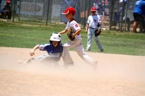 Kevin Spradlin | PeeDeePost.com Davis Faw slides into second safely in the bottom of the fifth inning.