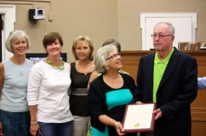 Kevin Spradlin | PeeDeePost.com Family members and friends were on hand to watch as former Commissioner Jimmy Maske was honored for his 36 years on the board.