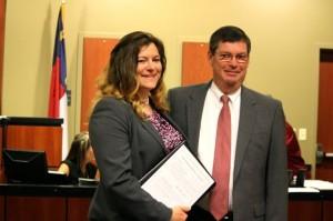Kevin Spradlin | PeeDeePost.com Holly Smith and Richmond County District Attorney Reece Saunders.