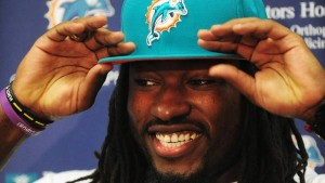 Photo courtesy USA Football This photo shows Hamlet native Dannell Ellerbe when he signed a free agent contract with the Miami Dolphins.