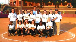 Submitted photo Picture are front row, l to r: Antavia Brown, Callie Bryant, Katie Rivers, Kenzie Zeigler, Destiny Harrington, and Margaret Jean Harris. Second row, l to r are Coach Dick Griffith, Haven Owens, Kamryn Leidig, Hailey King, Coach Jay Bennett, Beyonce Murray, McKenzie Oliver, Hannah Sellers, and coach Lisa Oliver.