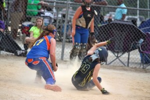 Kevin Spradlin | PeeDeePost.com Catelyn Chisholm was a thorn in Richmond's backside all game long, both at the plate and in the field, in the Thunder's 11-0 loss to Chisholm's Wildcats.
