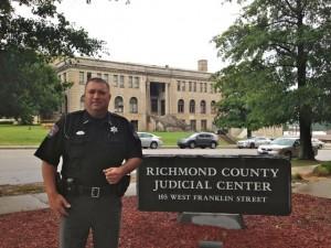 "Kevin Spradlin | PeeDeePost.com Richmond County Sheriff's Deputy Jeff Cagle said Falco was ""a great partner."""