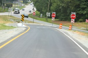 Kevin Spradlin | PeeDeePost.com What motorists see as they travel U.S. 1 southbound approaching the new traffic pattern.