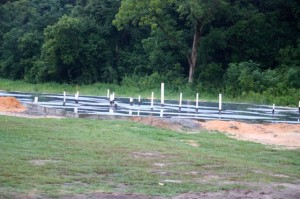 Kevin Spradlin | PeeDeePost.com The foundation has been poured for the new Dobbins Heights Community Center.
