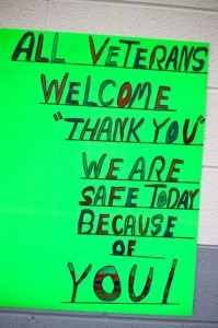 Kevin Spradlin | PeeDeePost.com A handmade sign in support of Vietnam veterans.