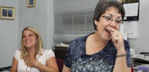 Susan Tibbs, right, credits Sarah Mammarella, former family and consumer sciences agent for Richmond County Cooperative Extension.  Mammarella recently left for a new position as a government contractor.