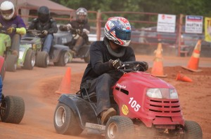 Kevin Spradlin | PeeDeePost.com A driver goes around the Ellerbe Lions Club Speedway track in May. Racing was suspended indefinitely in June 14 after track manager Kermit Perkins and Ellerbe Lions Club officials fell into a disagreement.
