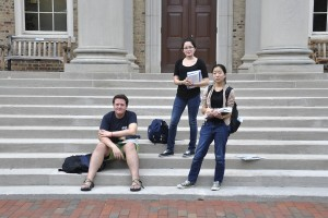 Photo by Chris Griffin | The Daily Tar Heel Austin Glock Andrews, Grace Lane and Yuman Wang say they couldn't have come to UNC-Chapel Hill without the help of need-based financial aid.