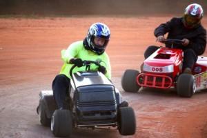 Kevin Spradlin | PeeDeePost.com Turn 2 on the Ellerbe Lions Club Speedway proves to be a bit of a wheel-raising experience.