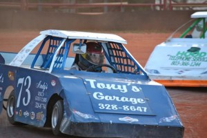 Kevin Spradlin | PeeDeePost.com These South Carolina drivers compete in their mini-cup machines to the delight of the crowd Saturday night in Ellerbe.