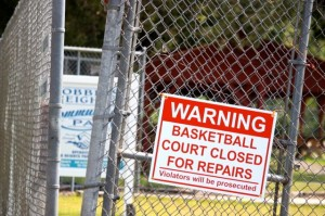 Kevin Spradlin | PeeDeePost.com The town of Dobbins Heights closed the basketball court in mid-June after resident Quentin Gore expressed concern about the safety of players.
