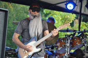 Kevin Spradlin | PeeDeePost.com ZZ Top he's not, but that didn't stop members of Too Much Sylvia from donning fake long beards to imitate the band in looks and sound.