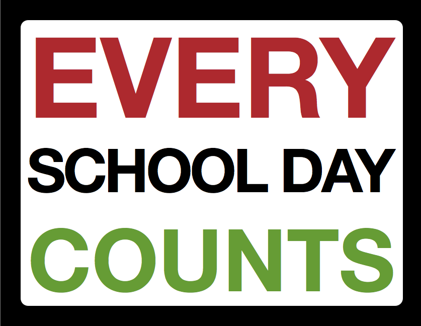 good school attendance gives your child the opportunity of success and ...