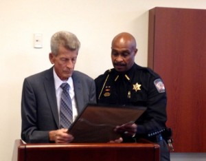 Kevin Spradlin | PeeDeePost.com Sam Jarrell, left, with Richmond County Sheriff James Clemmons Jr.