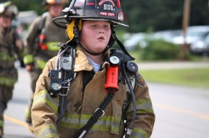 Kevin Spradlin | PeeDeePost.com Kendell Watson, 11, has been a junior firefighter with the East Rockingham Fire Department for three years.
