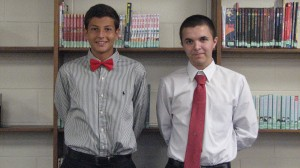 Submitted photo John Pittman, left, and Trey McInnis will represent Richmond Senior High School and compete for the prestigious Park Scholarship.