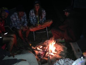 Chris Knodel photo Night one campfire with the Luna Sandals crew.