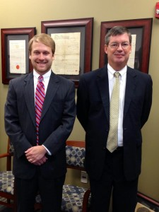 Photo by Vickie Daniel Patrick McCrary, left, with District Attorney Reece Saunders.