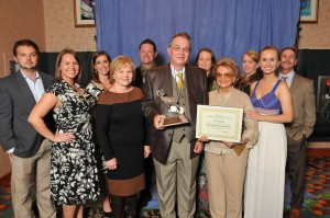 Submitted photo The Webb Farm was honored as North Carolina's Conservation Business of the Year at the North Carolina Wildlife Federation Annual Banquet on Sept. 6 at Embassy Suites in Research Triangle Park. Front row, left to right: Brett Webb, Olivia Webb, Debbie Webb, Bill Webb, Johnnie Webb and Holly Webb. Back row, left to right: Ashley Davis, Bill Robertson, Jenna Webb, Patty McIntyre and Danny Hawks.