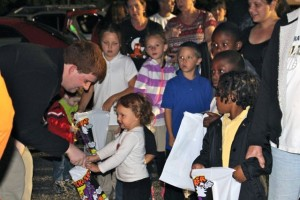 Kevin Spradlin | PeeDeePost.com The inaugural Trunk-or-Treat at the library was a success.