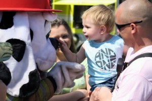 Kevin Spradlin | PeeDeePost.com Nathan McBride will turn 2 in November, and already he has information to begin making some career choices. Either that, or that's simply one really big, furry dog. Thanks, Sparky.