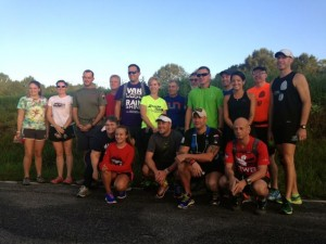 Kevin Spradlin | PeeDeePost.com Runners who completed the Mangum Track Club's 15-mile run Saturday in Richmond County were able to join the club.