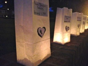 Kevin Spradlin | PeeDeePost.com Approximately 140 luminaries were lit to honor and remember the lives of children who departed their families too soon.